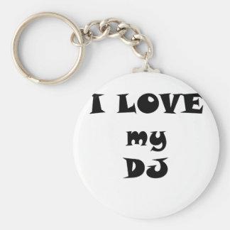 I Love my DJ Keychain
