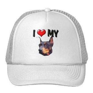 I Love My Doberman 2 Trucker Hat