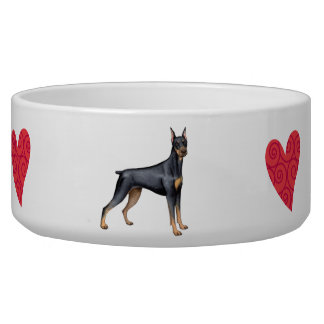 I Love my Doberman Bowl