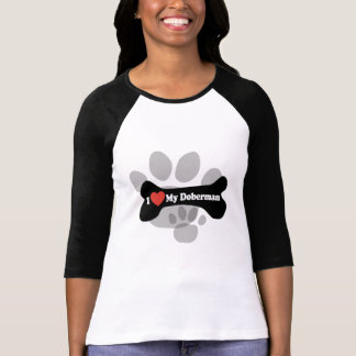 I Love My Doberman - Dog Bone T Shirt