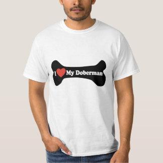 I Love My Doberman - Dog Bone T-shirt