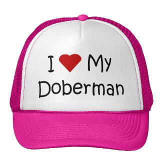 I Love My Doberman Dog Breed Lover Gifts Trucker Hat