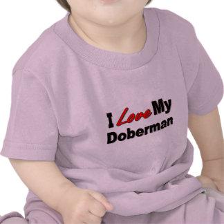 I Love My Doberman Dog Gifts and Apparel Tshirt