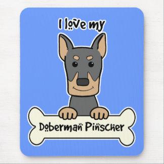 I Love My Doberman Mouse Pad