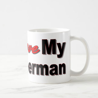 I Love My Doberman Mug