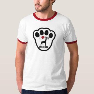 I love my Doberman paw print Tee Shirt