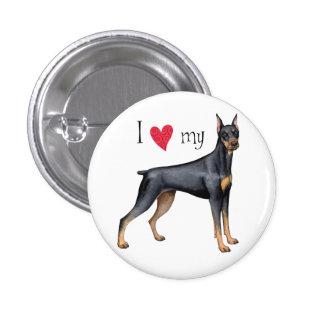 I Love my Doberman Pinback Button