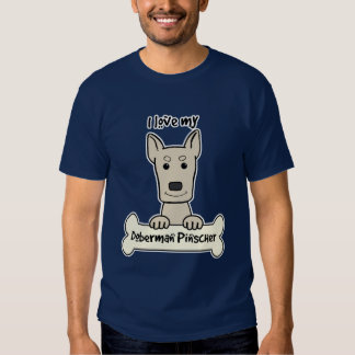 I Love My Doberman T Shirt