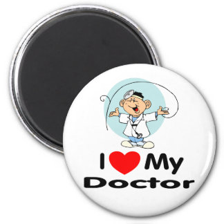 I Love My Doctor 2 Inch Round Magnet