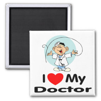 I Love My Doctor 2 Inch Square Magnet
