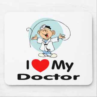 I Love My Doctor Mouse Pad