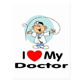 I Love My Doctor Postcard