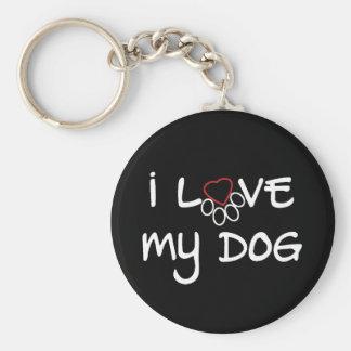 I love my dog 2.5'' keychain black