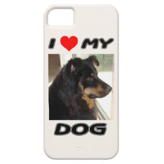 I LOVE MY DOG - ADD YOUR OWN PHOTO iPhone SE/5/5s CASE