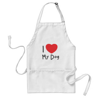 I Love my Dog Adult Apron