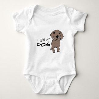 I love my dog! baby bodysuit