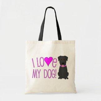 I love my dog! bag