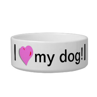 I love my dog Bowl
