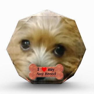 I love my dog breed acrylic award