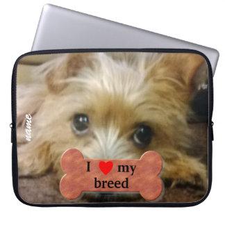 I love my dog breed computer sleeve