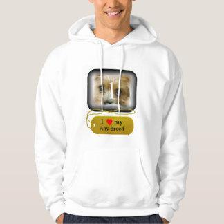 I love my dog breed hoodie