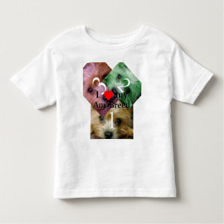 I love my dog breed toddler t-shirt