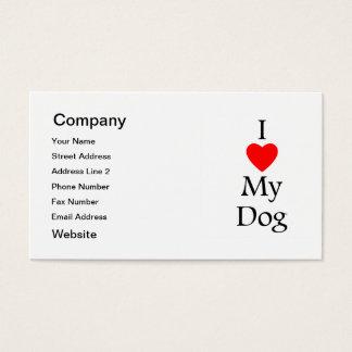 I Love My Dog Business Card