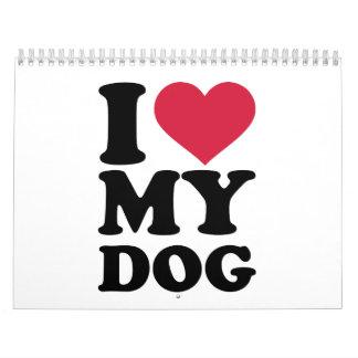 I love my dog calendars