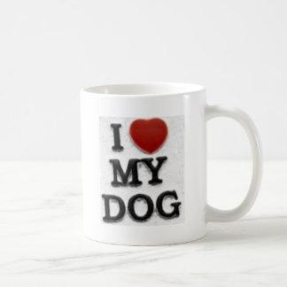 I Love My Dog Coffee Mugs