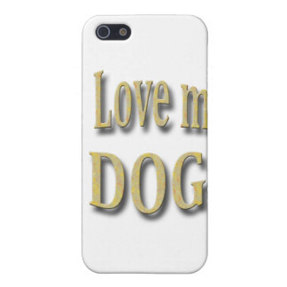 I Love my Dog Cover For iPhone SE/5/5s