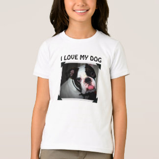 I Love My Dog Custom Name Pet Adoption T-Shirt