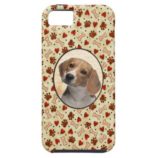 I Love My Dog Custom Pet Photo Brown Bones iPhone 5 Cases