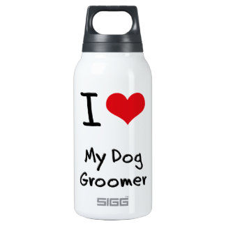 I Love My Dog Groomer 10 Oz Insulated SIGG Thermos Water Bottle