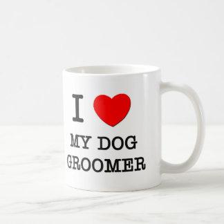 I Love My Dog Groomer Classic White Coffee Mug