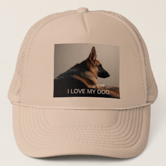 I Love my Dog hat