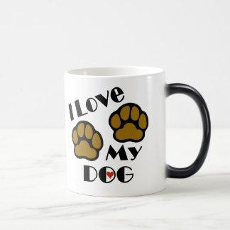 I Love My Dog Hot/Cold Changing Mug