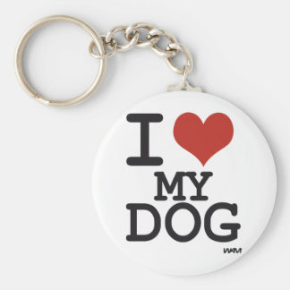 I love my dog keychain