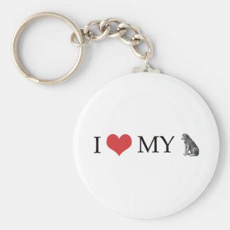 I Love My Dog Keychains