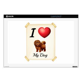 I love my dog laptop decals