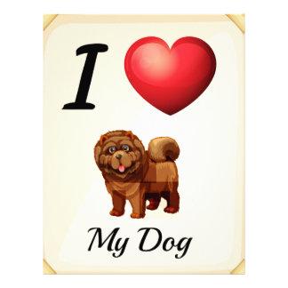 I love my dog letterhead