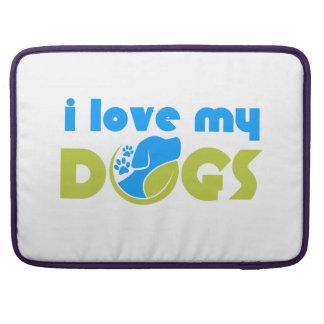 i love my dog MacBook pro sleeves