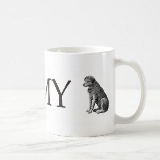I Love My Dog Classic White Coffee Mug