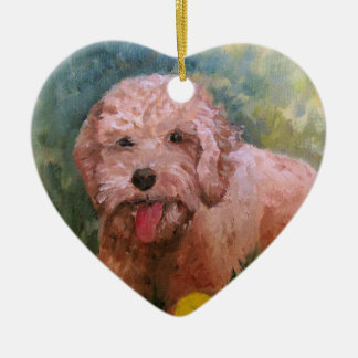 I love my dog Oranament Goldendoodle /Labradoodle. Ceramic Ornament