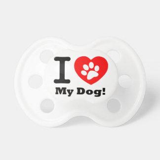 I Love My Dog Pacifier