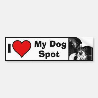 I Love My Dog.... Photo Template Bumper Sticker