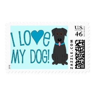 I love my dog! stamp