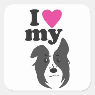 I Love My Dog! Square Sticker