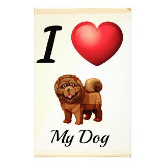 I love my dog stationery