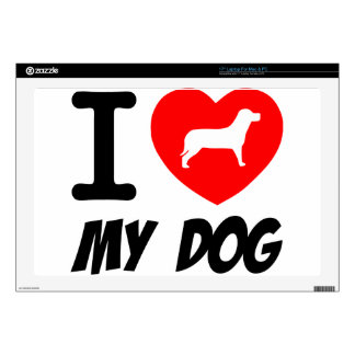 """I Love My Dog Text With Red Heart Decal For 17"""" Laptop"""