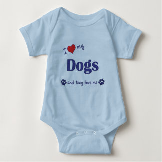 I Love My Dogs (Multiple Dogs) Baby Bodysuit